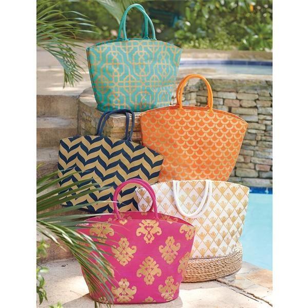 Personalized Metallic Gold Beach Bag Juco Burlap Tote