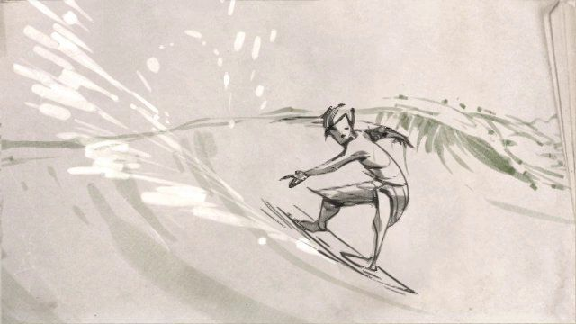 Surfer Animation Test by Ryan J Woodward. Picked up TVPaint software and wanted to do a little test to see if I liked it so I animated a surfer.