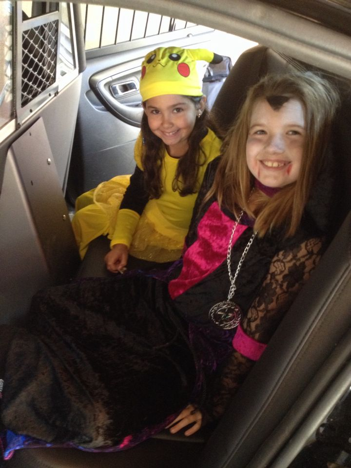 Me and my friend Angelina at a halloween fundraiser for we care for kids
