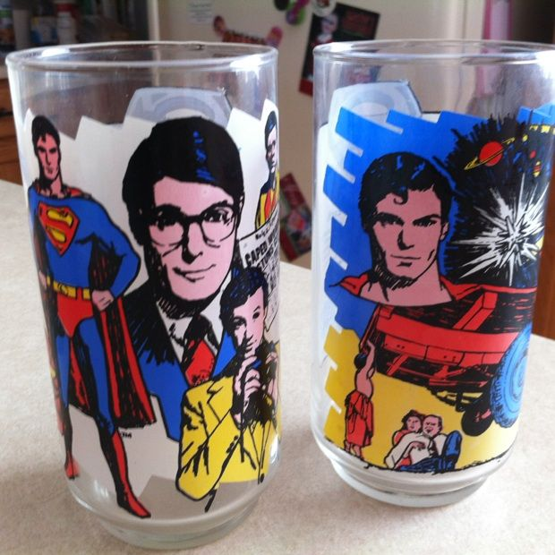 Old Superman Glass cups. Surprise, AZ