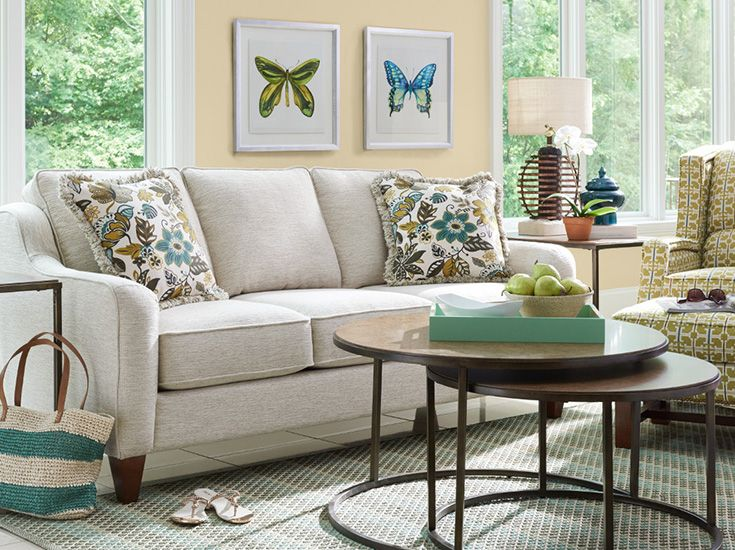 La-Z-Boy Talbot Sofa | This sofa's classic shape offers comfort and style! | Plus, PIN TO WIN a chair and a half! Get contest details at http://houseandhome.com/la-z-boy | #sofa #livingroom #furniture