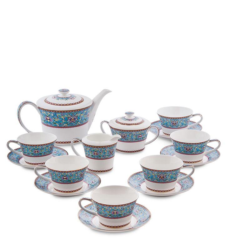 Чайный сервиз из костяного фарфора на 6 персон «Арабески» JK-172 (Pavone)   Бренд: Pavone (Italy);    Страна производства: Китай;   Материал: фарфор;   Количество персон: 6;   Объем чашки: 250 мл;   Количество предметов: 15 шт;          #dinnerware #porcelain #pavone #bonechina #gifts #giftshop  #подарок #фарфор #столовыйсервиз #столовыйнабор #сервировка #чайныйсервиз