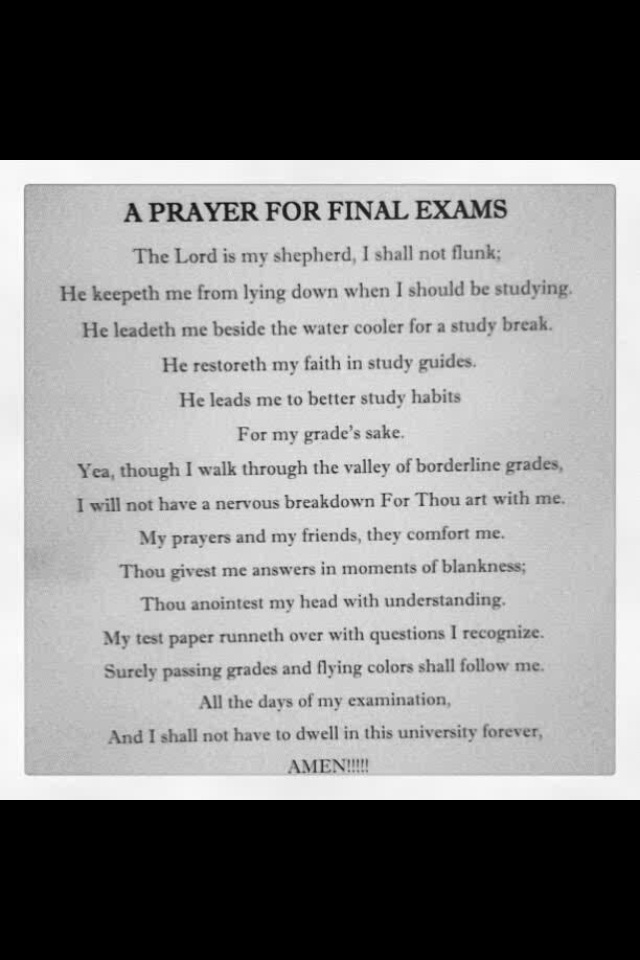 A pray for finals week