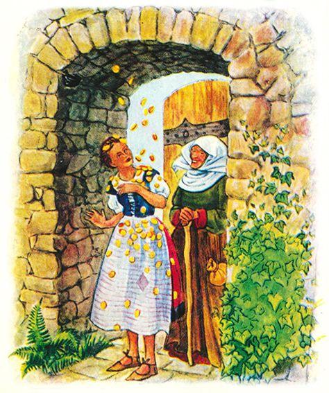 Diese Gesamtausgabe des Märchens Frau Holle, illustriert von Elfriede Prasse, erschien 1941 im Franz Schneider Verlag. Im Jahr 1983 wurden die Illustrationen erneut für eine Wiederveröffentlichung verwendet.
