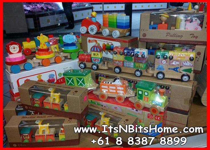 Great range of wooden toys, fantastic gifts... Trains Noah's ark Doll houses Castle  Kitchen Much much more in store... Call +61 8 8387 8899 Or Visit www.ItsNBitsHome.com