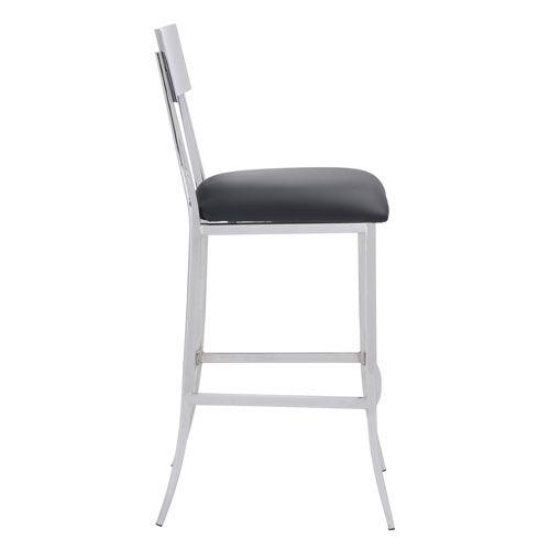 Mach Bar Chair Black Zuo Modern Contemporary Bar Height (28 To 36 Inch) Bar Stools Kitchen