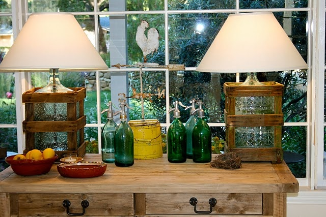 Lamps made from 5 gallon water bottles