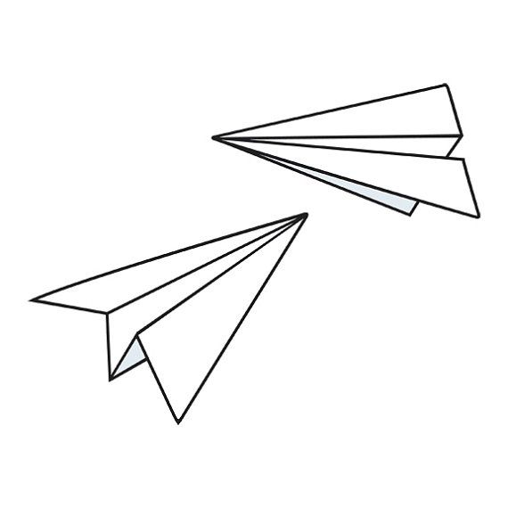 Possible tattoo idea???  Paper planes...  Cute...