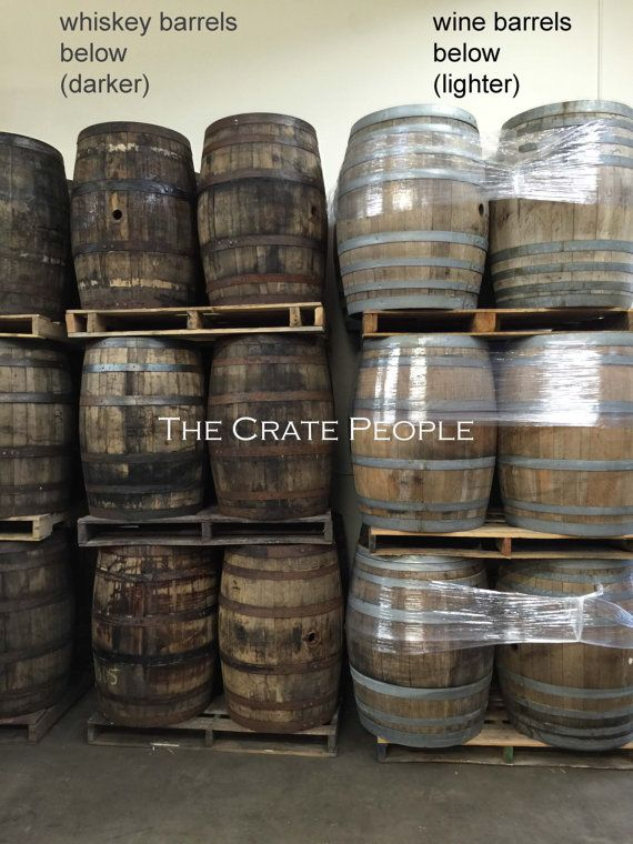 used/retired WHISKEY & WINE Barrels by TheCratePeople on Etsy