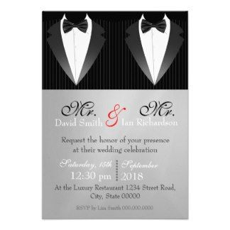 25+ best ideas about gay wedding invitations on pinterest | same, Wedding invitations