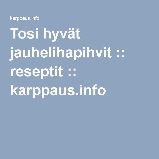 Tosi hyvät jauhelihapihvit :: reseptit :: karppaus.info