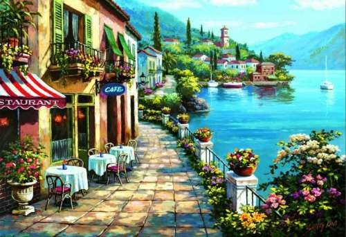 Overlook Cafe, Lake Como Artist: Sung Kim