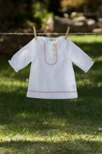dress - organic cottonGirls Cuca, White Tunics, Little Girls, Crosses Stitches Dresses, Little Girl Outfits, Smocking Dresses, Earth Clothing, Baby Dresses, Girls Outfit