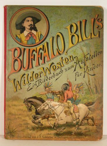 1891 buffalo bill wild west chromo children u0026 39 s pop up book