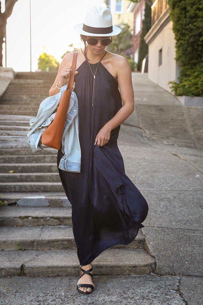 Dress: Calypso St. Barth; Hat: J.Crew; Sandals: Witchery; Bag: Everlane; Jacket: Old Navy; Sunglasses: Chloe (on sale!)