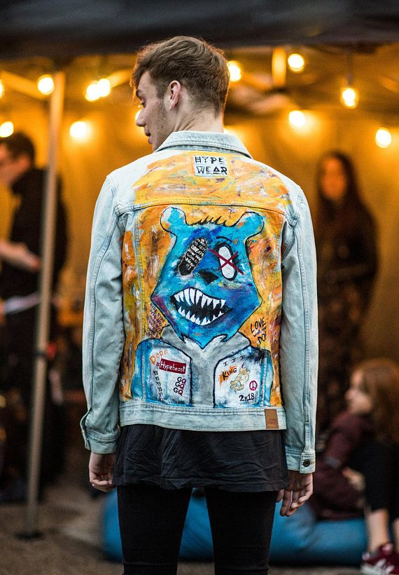 c115c04e4 HYPE Wear Hand Painted Denim Jacket in 2019 | festivals | Painted ...