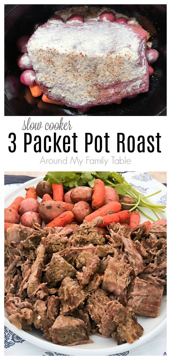 Just a big ol' roast, 3 packets, and some vegetables…that's all you ne…   – Totally Tasty Recipes