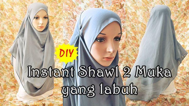 DIY: Menjahit instant shawl 2 muka yang labuh