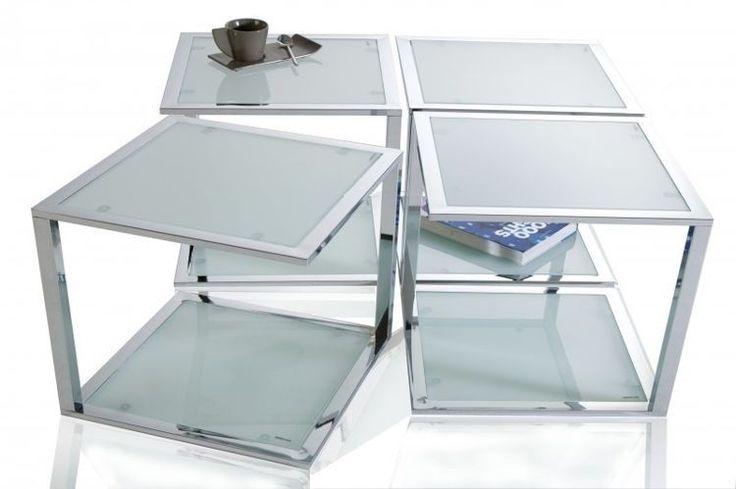 Stolik Cubetto chrom 40x40cm