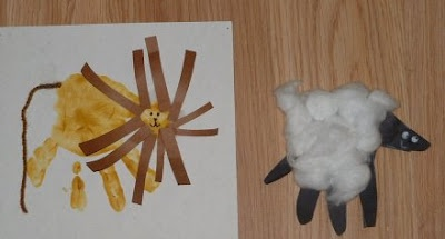 Lion and the Lamb Craft {littlefunlittlelearning}: Ideas, Lamb Craft, Handprint Crafts, Lion And Lamb, Preschool Crafts, Kid Stuff, Spring, Kid Crafts