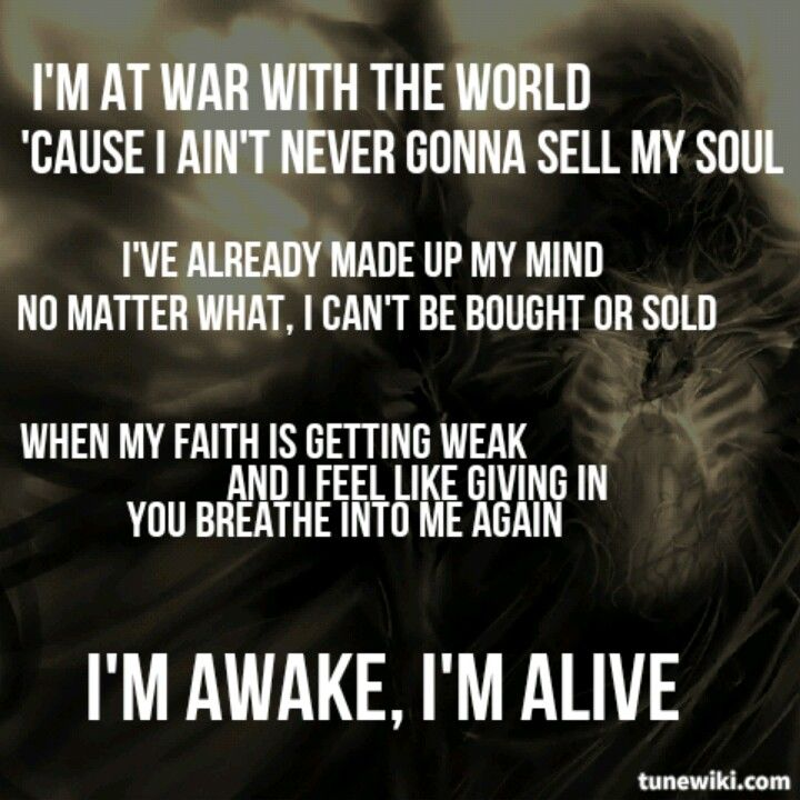 Now I know what I believe inside, NOW is my time! I'll do what I want cause this is my life!