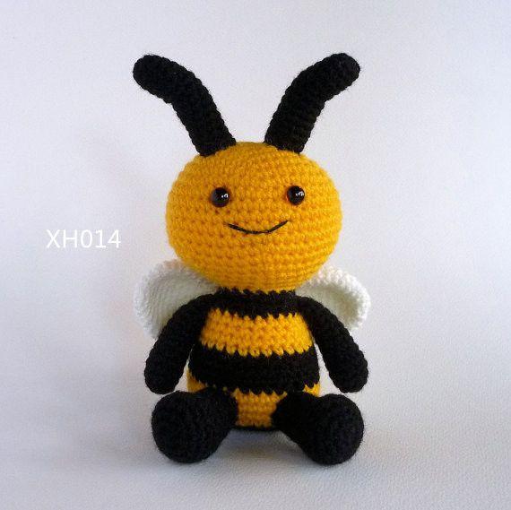 Amigurumi Пчела, вязание крючком Игрушки Пчелы, плюшевые Пчела, Bumble Bee, крючком Игрушки Насекомых, мягкая Игрушка, мягкая Игрушка, Softie, вязание крючком Животных(China (Mainland))