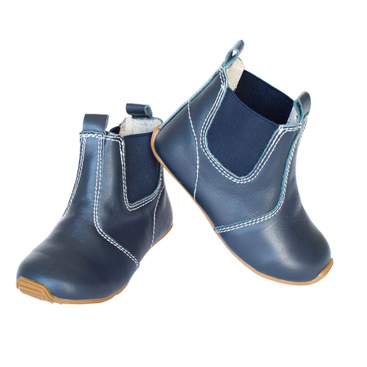 SKEANIE Boys or Girls Navy Leather riding boots. Junior Range. Sizes 4-11  The little Person in the house will have the smartest looking feet in town.  They will not want to take them of they are so comfy.  SKEANIE Boys or Girls Leather riding boots are hand made from soft eco-leather. These shoes feature luxurious leather uppers and lining with a flexible rubber sole.