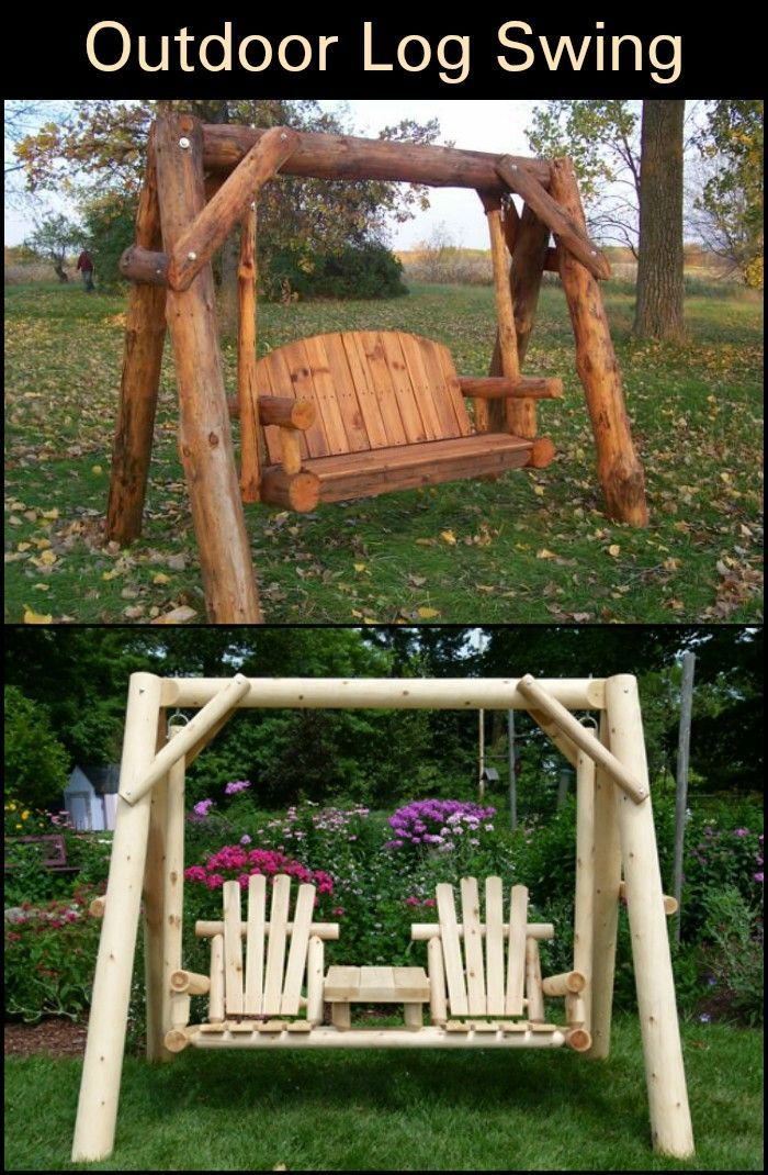 Glider swings are excellent seating areas in your porch or ...
