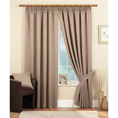 Cleveland Ready Made Curtains Coffee    - Traditional Pencil pleat heading  - Fully Lined Curtains  - Matching Tie Backs and Cushions Available