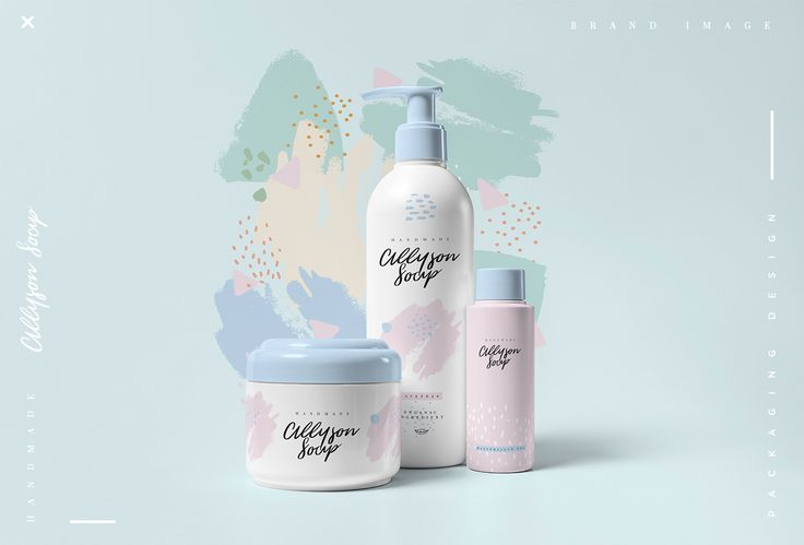 michela sansone designed the branding and packaging for Allyson Soap. The design features soft pastel colors, brushstroke textures and script, overall providing for a light, feminine design that stands out.