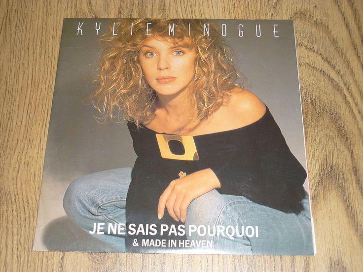 KYLIE MINOGUE - Je Ne Sais Pas Pourquoi - UK 7  IN POSTER SLEEVE