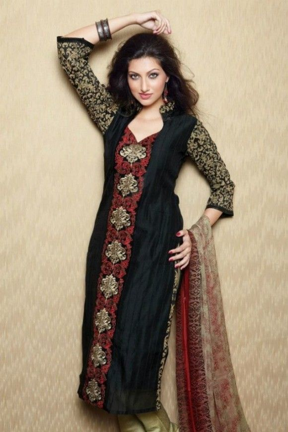 Nadia's-Collection-Collection-Casual-Wear-2013-For-women-25 black red and gold