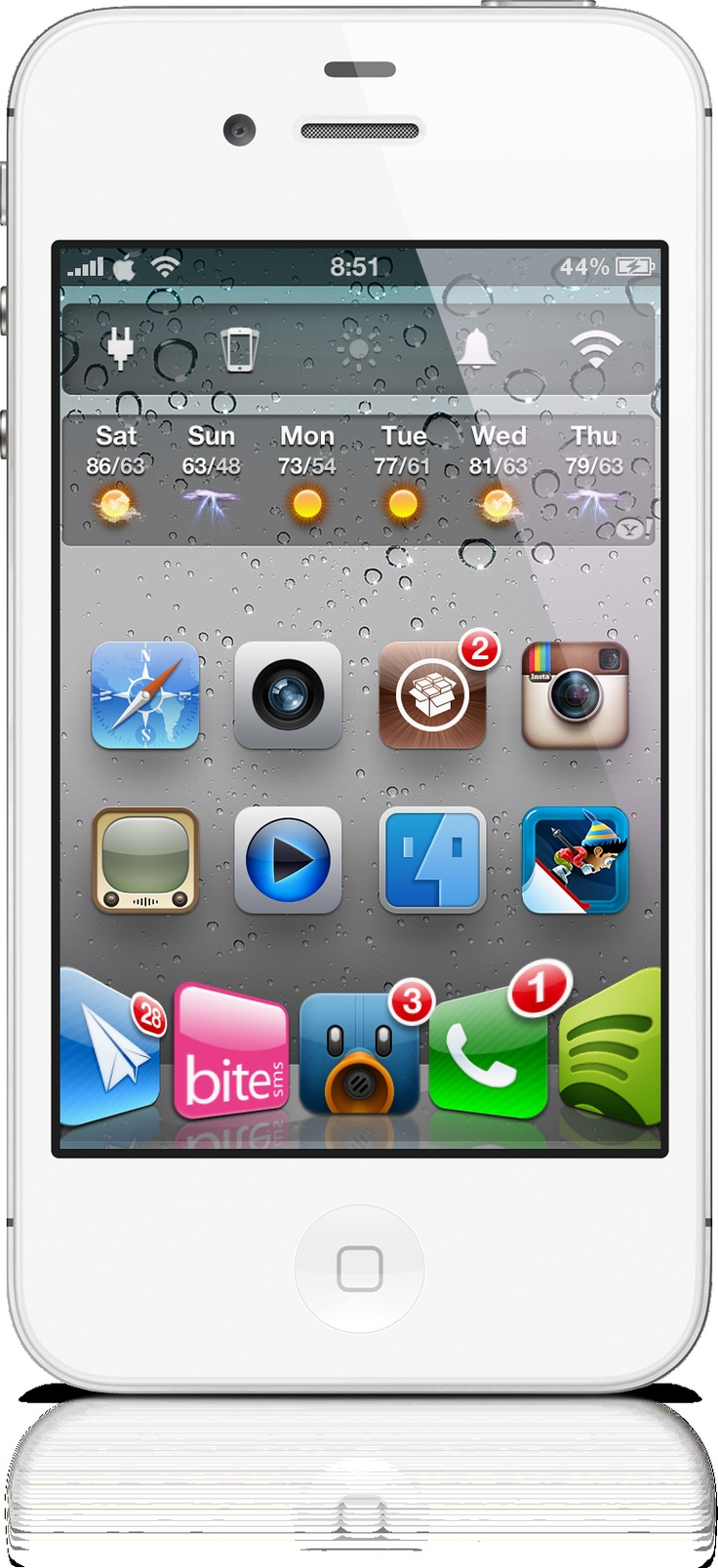 Dashboard X Allows iOS 5 Notifications Widgets On Your HomeScreen