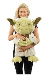 Try and resist hugging this cute Star Wars Talking Yoda Doll! Says 4 phrases!  Basically life size (for Yoda, that is).  Take him home, you will!