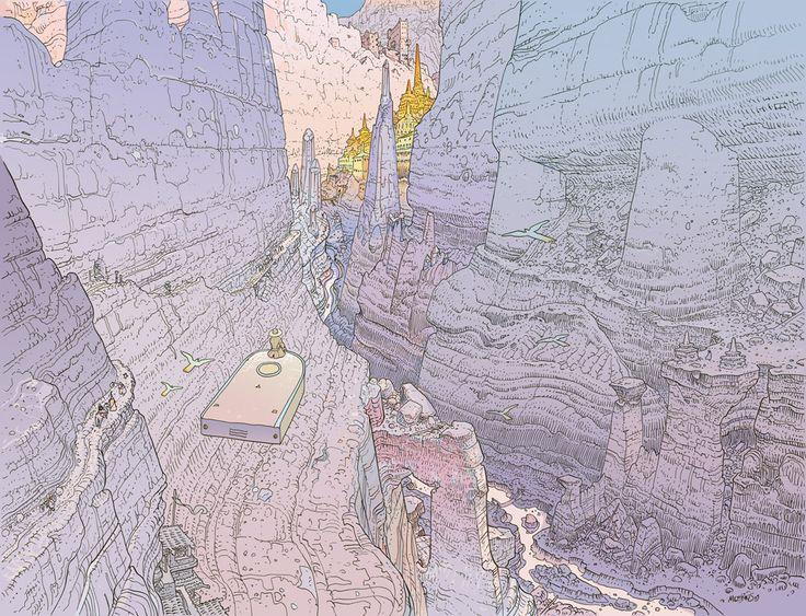 9emeart:   Le Voyage d'Hermes - Canyon Par Moebius
