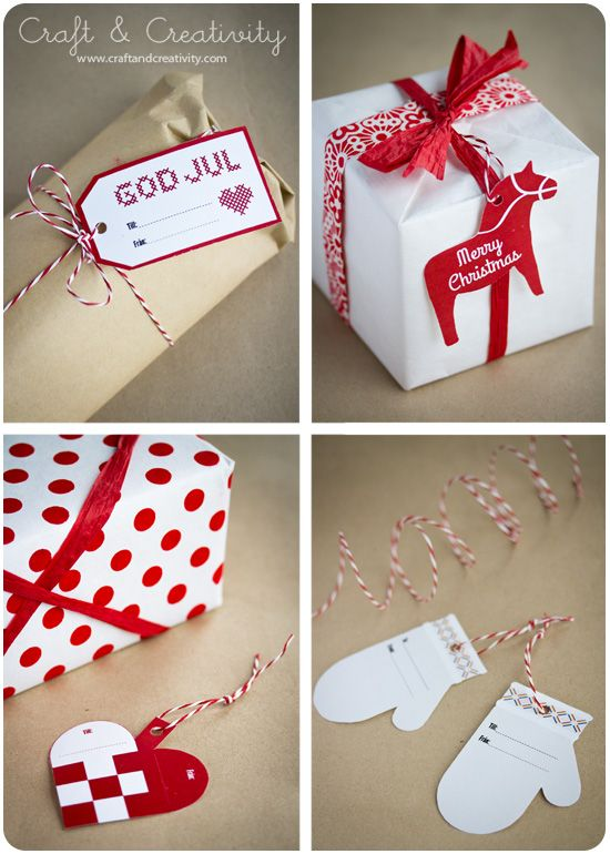 Christmas tags, free download. With English and Swedish text. - from Craft & Creativity