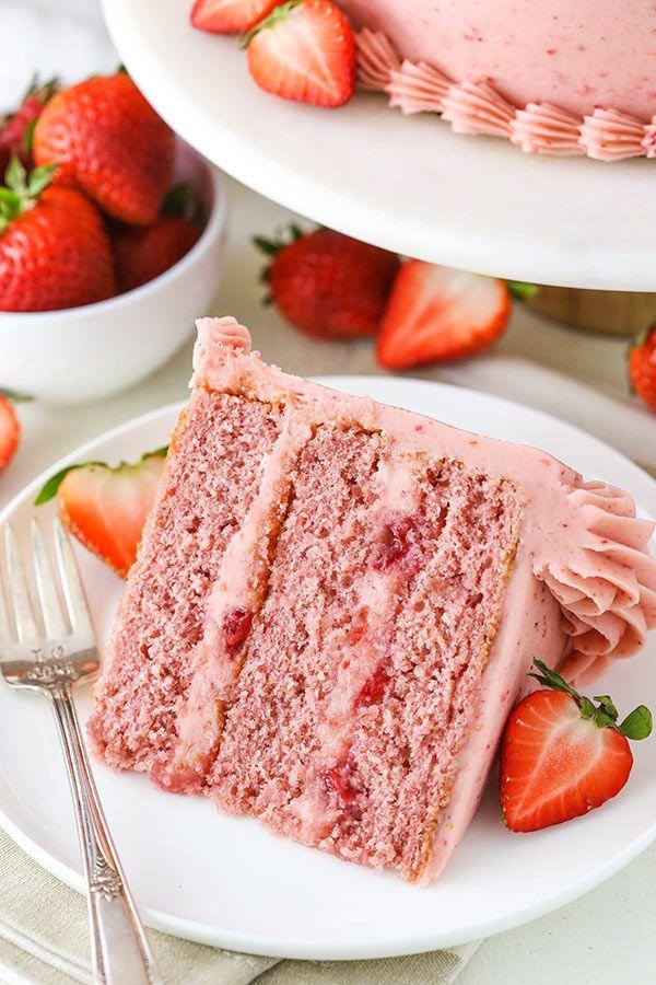 Hausgemachte Erdbeerkuchen Rezept | Ultimativer Erdbeer-Liebhaber-Kuchen   – Desserts