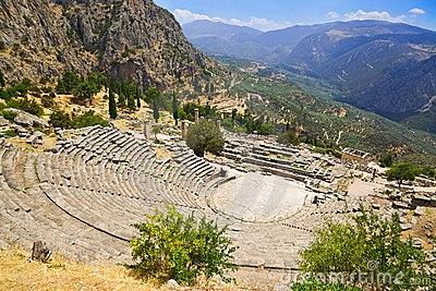 Ruins of the ancient city Delphi, Greece by Nikolai Sorokin, via Dreamstime