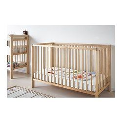 IKEA - GULLIVER, Crib, , The bed base can be placed at two different heights.One crib side can be removed when the child is big enough to climb into/out of the crib.Your baby will sleep both safely and comfortably as the durable materials in the crib base have been tested to ensure they give their body the support it needs.The crib base is well ventilated for good air circulation which gives your child a pleasant sleeping climate.