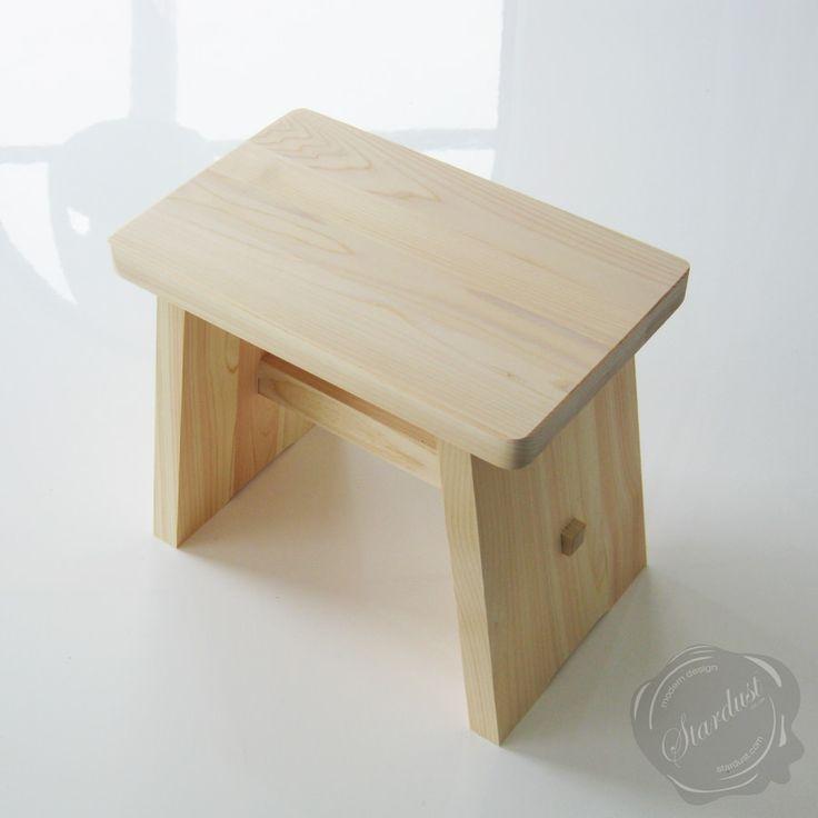 Hinoki Wooden Japanese Onsen Hot Spring Stool