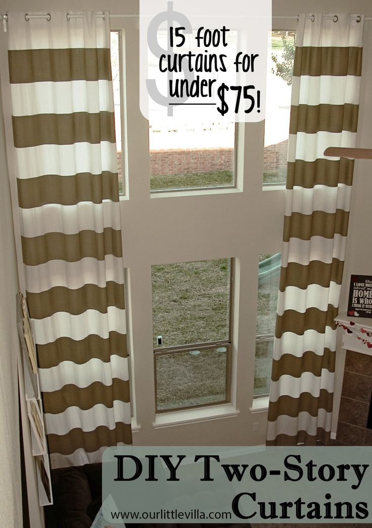 DIY Two-Story Curtains - wish I saw this before I custom ordered drapes
