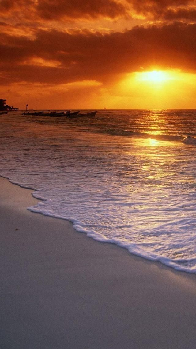 Playa Del Carmen, Cancun, Quintana Roo, Mexico, North America, Geography, Sunrise, Beach,