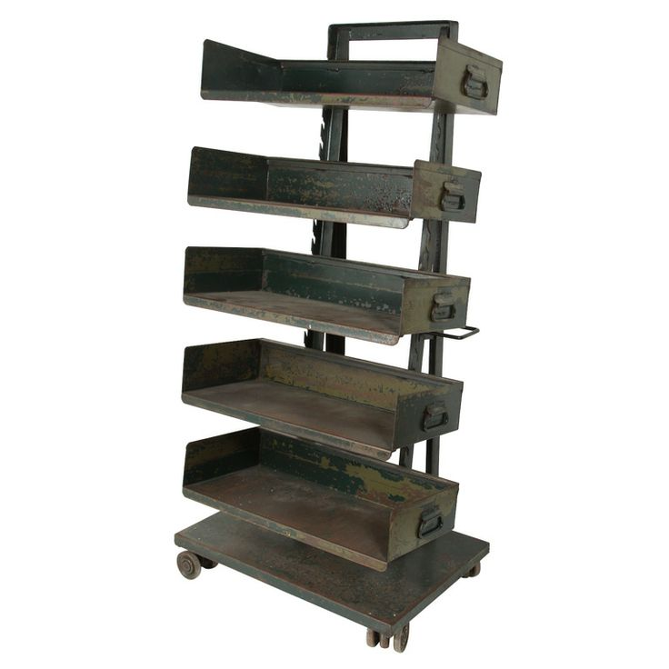 Attirant Vintage Industrial Storage Rack | Industrial Storage Racks, Industrial  Storage And Storage Rack