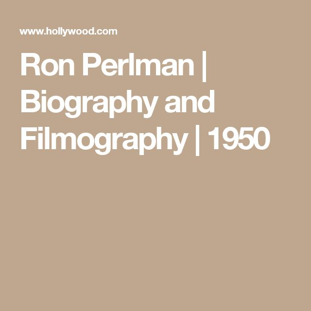 Ron Perlman | Biography and Filmography | 1950