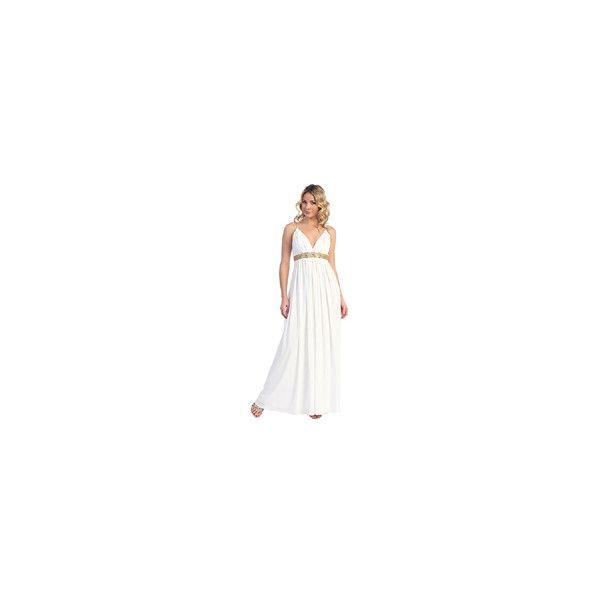 Bjorn & Me > Grecian Style Maternity Wedding Dress, WRAP & GRECIAN TIARA found on Polyvore