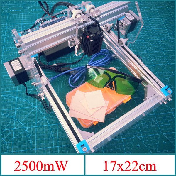 Visiocology : 2.5W Desktop DIY Violet Laser Engraver Engraving Machine Picture CNC Printer Assembling Kits