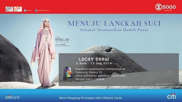 Sogo: Lucky Draw untuk Pembelian Minimun Rp.500.000,-(Citibank) @SOGO_IND