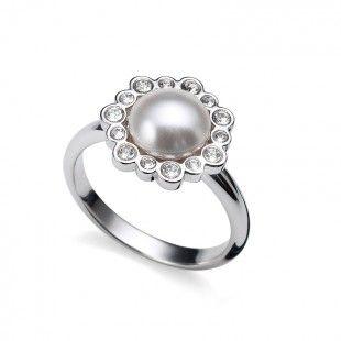 Ring Ease rhod. crystal #OliverWeber