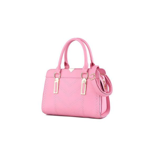 Women Stylish Handbag Vintage Shoulder Bags Crossbody Bags (40 BAM) ❤ liked on Polyvore featuring bags, handbags, shoulder bags, cross-body handbag, pink shoulder bag, vintage shoulder bag, pink shoulder handbags and vintage handbags purses