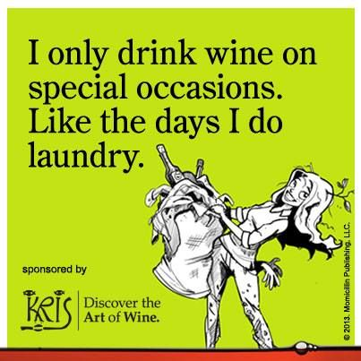 It's Friday! Get your wine and do some laundry!